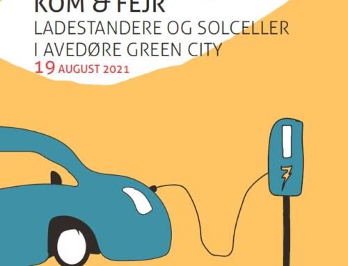 Invitation til indvielse af ladestandere i Avedøre Green City